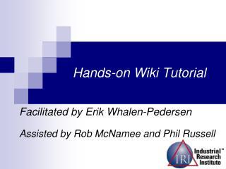 Hands-on Wiki Tutorial