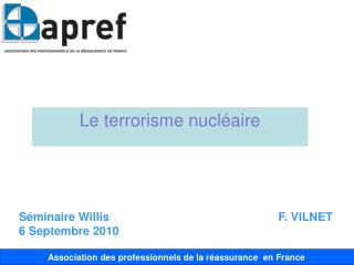Le terrorisme nucléaire