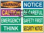 Safety 3.1