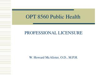 OPT 8560 Public Health