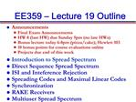 EE359   Lecture 19 Outline
