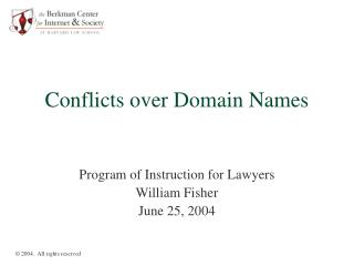 Conflicts over Domain Names