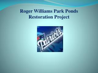 Roger Williams Park Ponds Restoration Project