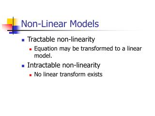 Non-Linear Models