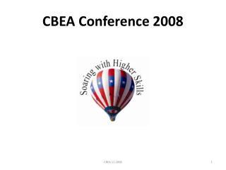 CBEA Conference 2008