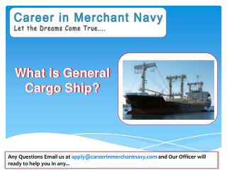 how to join general cargo ship
