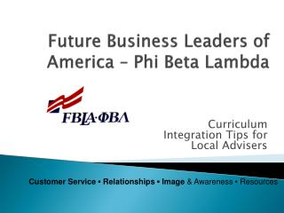 Future Business Leaders of America – Phi Beta Lambda