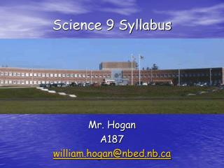Science 9 Syllabus