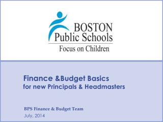 Finance & Budget Basics  for new Principals & Headmasters