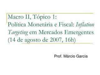 Prof. Márcio Garcia