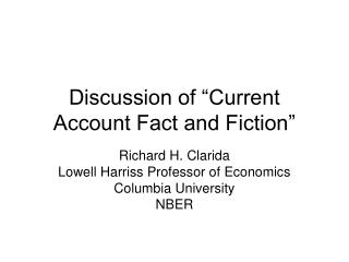 "Discussion of ""Current Account Fact and Fiction"""