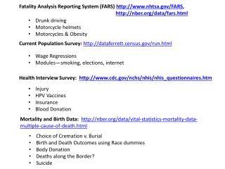 Fatality Analysis Reporting System (FARS)   nhtsa/FARS ,
