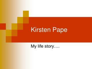 Kirsten Pape