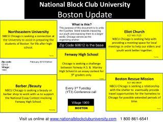 National Block Club University  Boston Update