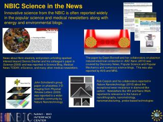 NBIC Science in the News