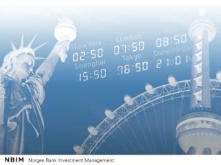 Forvaltningen av Statens  pensjonsfond – Utland 3. kvartal 2009