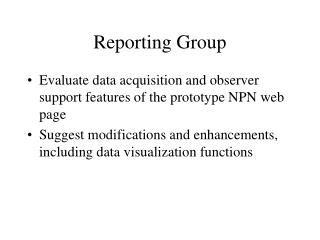 Reporting Group