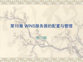 第 10 章  WINS 服务器的配置与管理