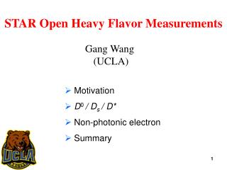 STAR Open  Heavy Flavor  Measurements