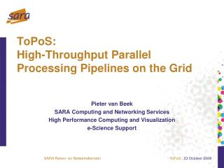 ToPoS: High-Throughput Parallel Processing Pipelines on the Grid