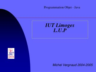 IUT Limoges L.U.P
