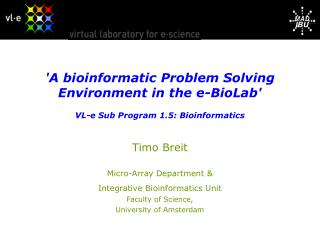 Timo Breit Micro-Array Department & Integrative Bioinformatics Unit Faculty of Science,