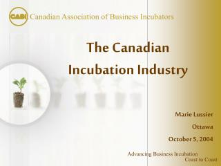 The Canadian Incubation Industry