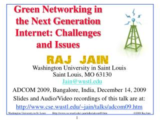 Green Networking in the Next Generation Internet: Challenges and Issues
