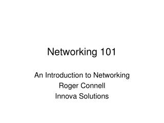Networking 101