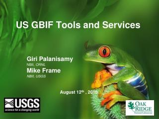 US GBIF Tools and Services