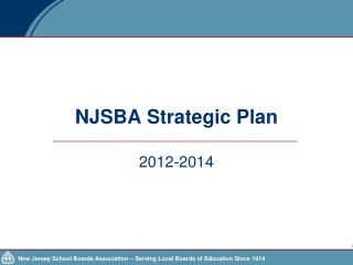 NJSBA Strategic Plan