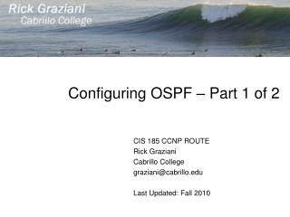 Configuring OSPF � Part 1 of 2