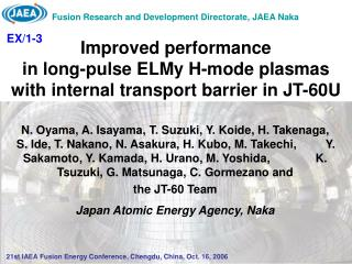 Improved performance in long-pulse ELMy H-mode plasmas with internal transport barrier in JT-60U