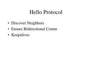 Hello Protocol