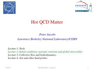 Hot QCD Matter