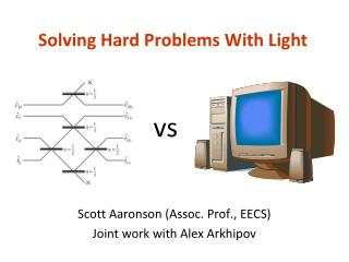 Solving Hard Problems With Light