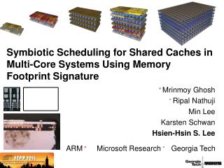 Symbiotic Scheduling for Shared Caches in Multi-Core Systems Using Memory Footprint Signature