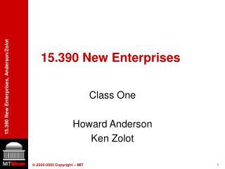 15.390 New Enterprises
