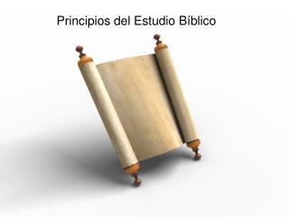 Principios del Estudio B�blico