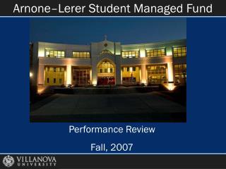 Arnone–Lerer Student Managed Fund