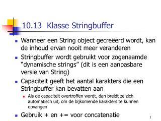10.13  Klasse Stringbuffer