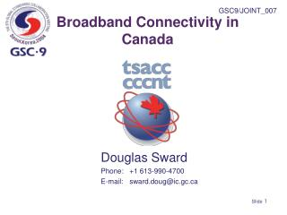 Broadband Connectivity in Canada
