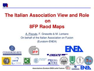 The Italian Association View and Role  on  8FP Raod Maps