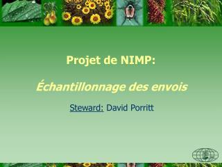 Projet de NIMP: Échantillonnage des envois