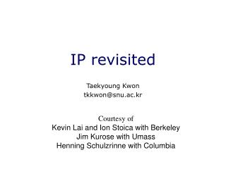 IP revisited