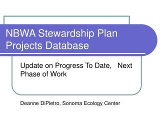 NBWA Stewardship Plan Projects Database