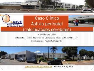 Caso Clínico Asfixia perinatal (calcificações cerebrais)