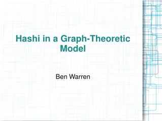 Hashi in a Graph-Theoretic Model