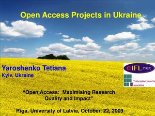 Open Access Projects in Ukraine