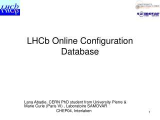 LHCb Online Configuration Database